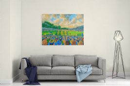 gay meadow on matchday  canvas a2 size